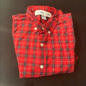 Boys small old navy button up practically new